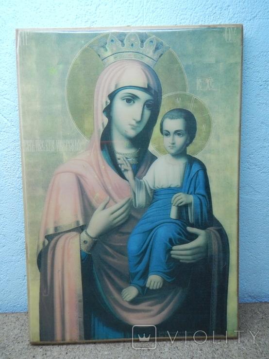 Икона Иверская Матерь Божья. 260х180, фото №4