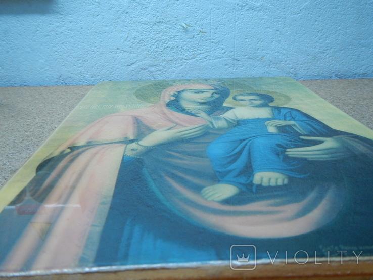 Икона Иверская Матерь Божья. 260х180, фото №8
