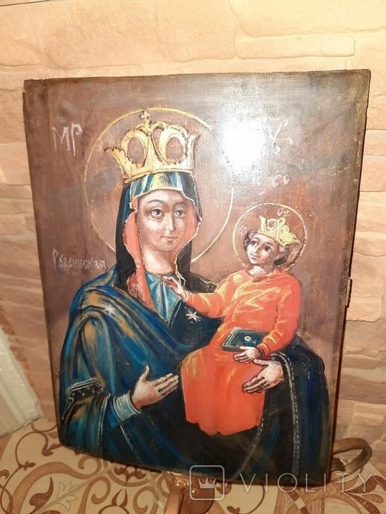 Икона Богородицы Рудненская размером 34 на 27 см., фото №2