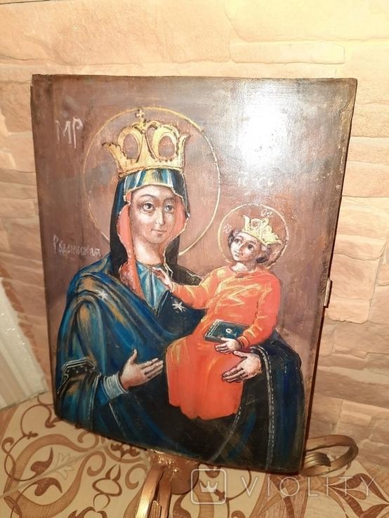 Икона Богородицы Рудненская размером 34 на 27 см., фото №4