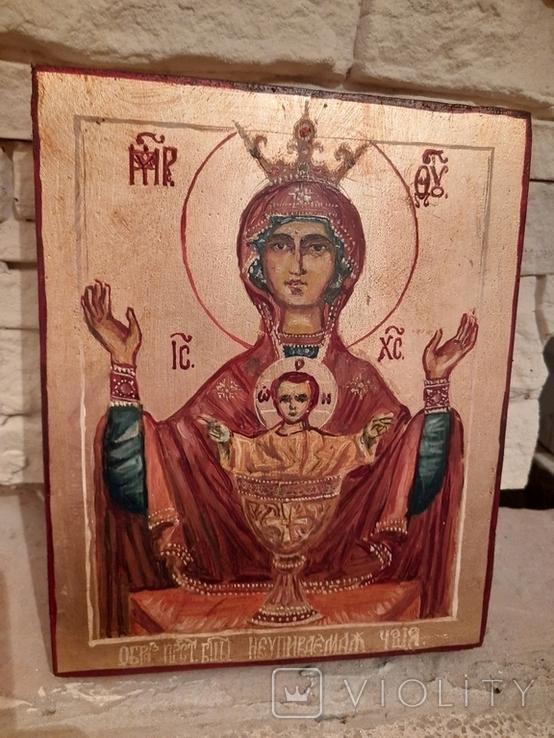 Икона Неупиваемая Чаша размером 15 на 19 см., фото №2