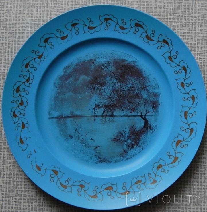 Старинная тарелка из колкого пластика, фото №2