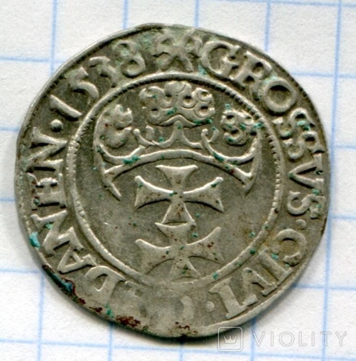Сігізмунд 1 гріш 1538 рік Гданськ, Данціг