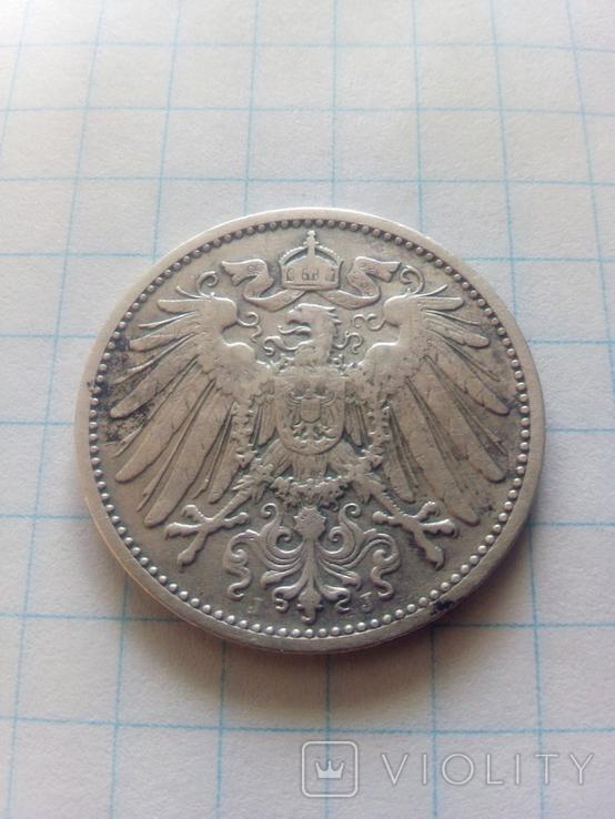 1 марка 1907 J Гамбург, фото №3