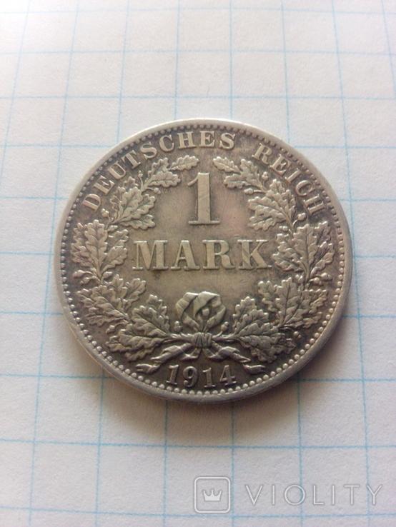 1 марка 1914 А Берлін, фото №2