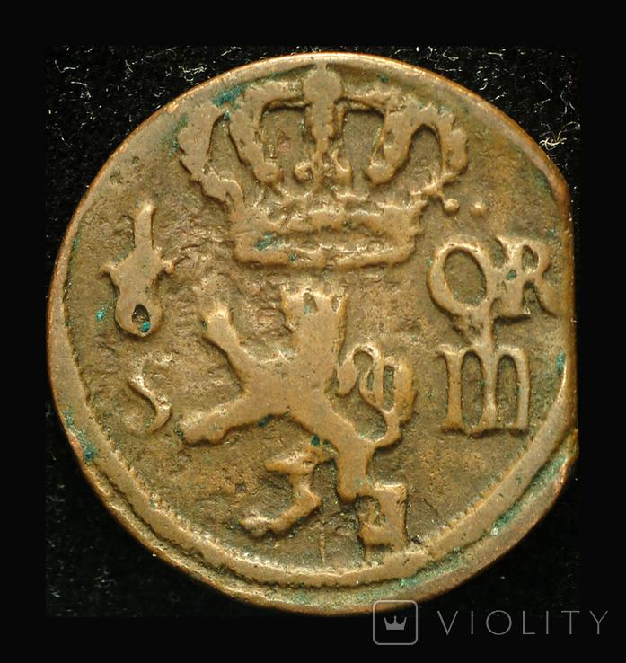 Швеция 1/6 эре 1708 Карл XII, фото №3