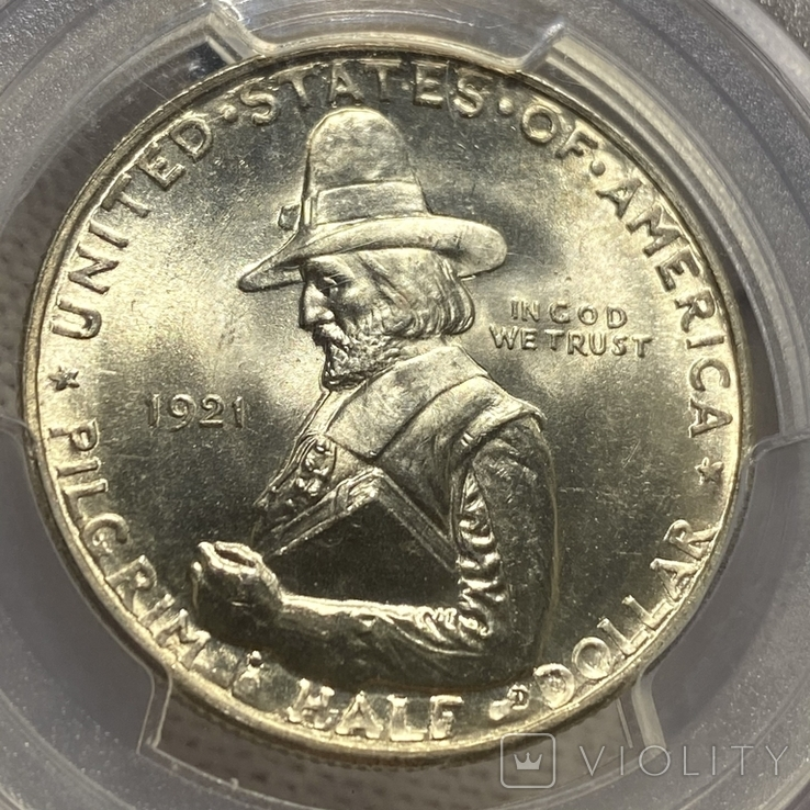 50 Центов 1921 Пилигрим MS 65