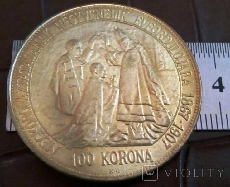 100 крон 1907року Австро-Угорщина -репліка /-копія, фото №2