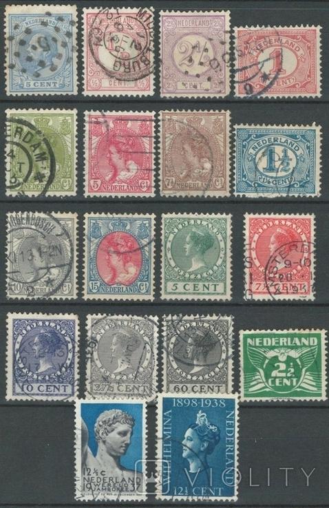 Яб05 Нидерланды 1872-1938 (18 марок без повторов)