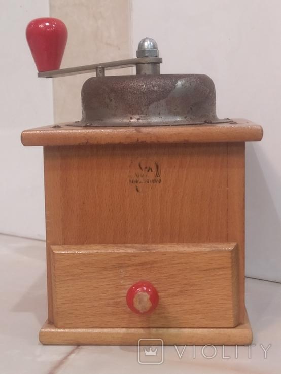 Кофемолка коллекционная рабочая дерево металл клеймо Германия, фото №2