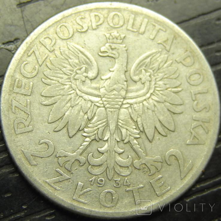 2 злотих 1934 Польща срібло рідкісна, фото №3