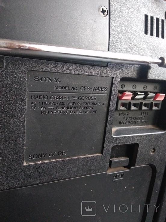 Магнитофон SONY CFS-W435S, фото №9