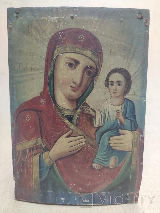 """Икона """"Богородицы Тифенская""""., фото №3"""