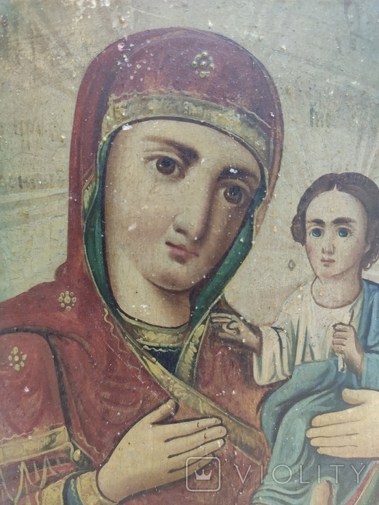 """Икона """"Богородицы Тифенская""""., фото №2"""