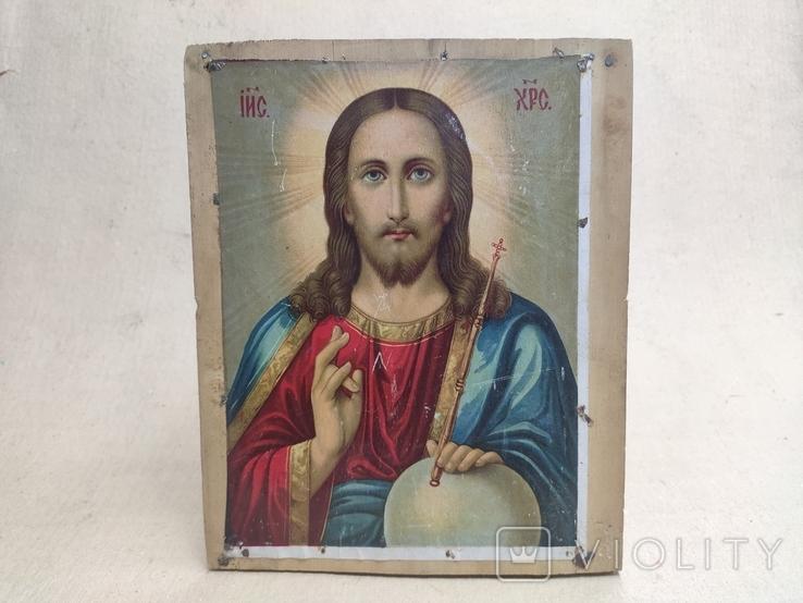 """Икона """"Спаситель"""". Старинная. 27х22., фото №3"""