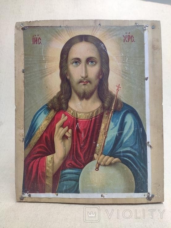 """Икона """"Спаситель"""". Старинная. 27х22., фото №5"""