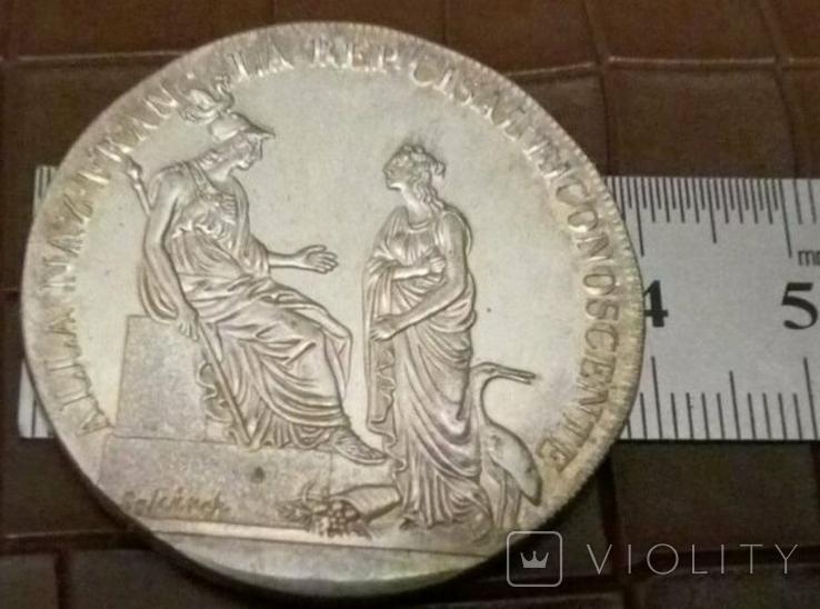 1 скудо 1800-х /б.р./   Італія /копія  /посрібнення 999/ не магнітна, фото №3