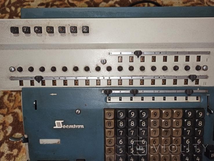 Электромеханический калькулятор Soemtron typ 214, фото №9
