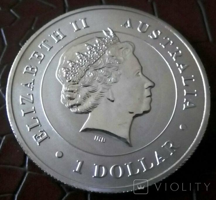 1 долар  2015 року Австралія /репліка/ копія посрібнення 999 не магнітна, фото №3