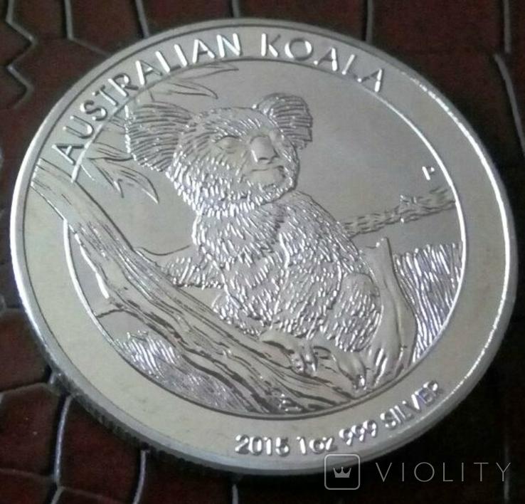 1 долар  2015 року Австралія /репліка/ копія посрібнення 999, фото №2