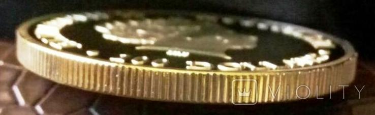 100 доларів Австралія 2011 року. магнітний, (позолота 999) копія, фото №4