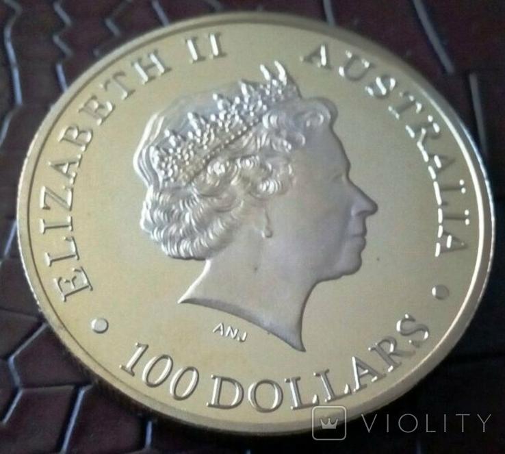 100 доларів Австралія  2011 року.  магнітний,   (позолота 999)  копія, фото №3