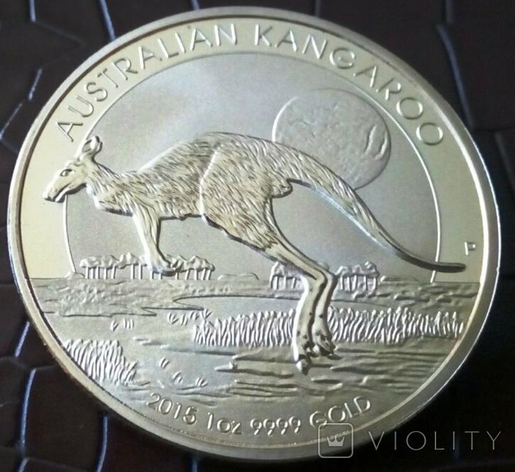 100 доларів Австралія  2015 року  магнітний,   (позолота 999)  копія, фото №3