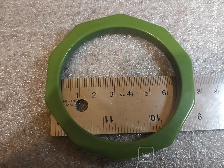 Граненый браслет пластик, фото №4