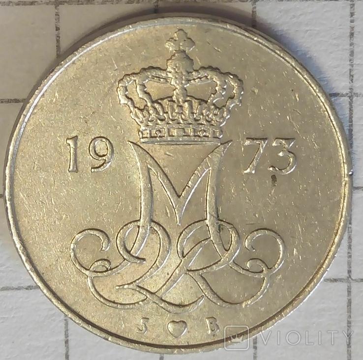 Дания 10 оре 1973, фото №3