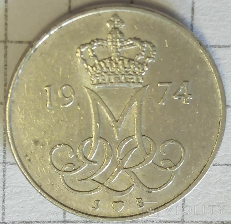 Дания 10 эре 1974, фото №2