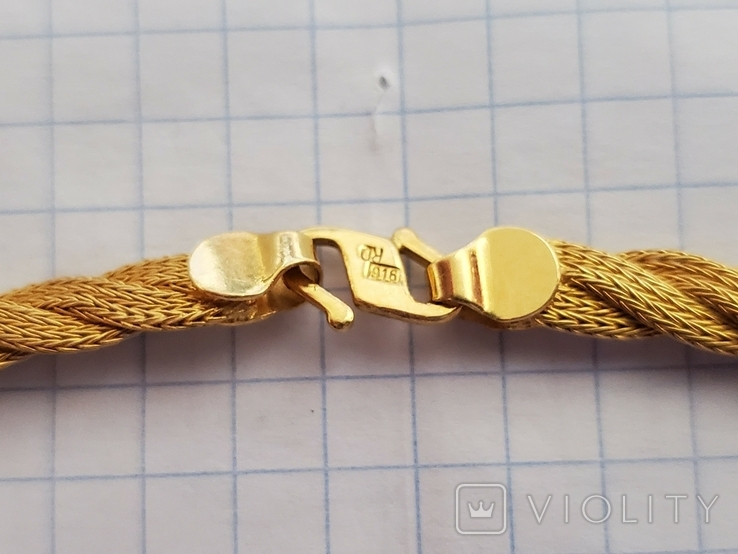 Цепочка и сережки,золото 916., фото №6