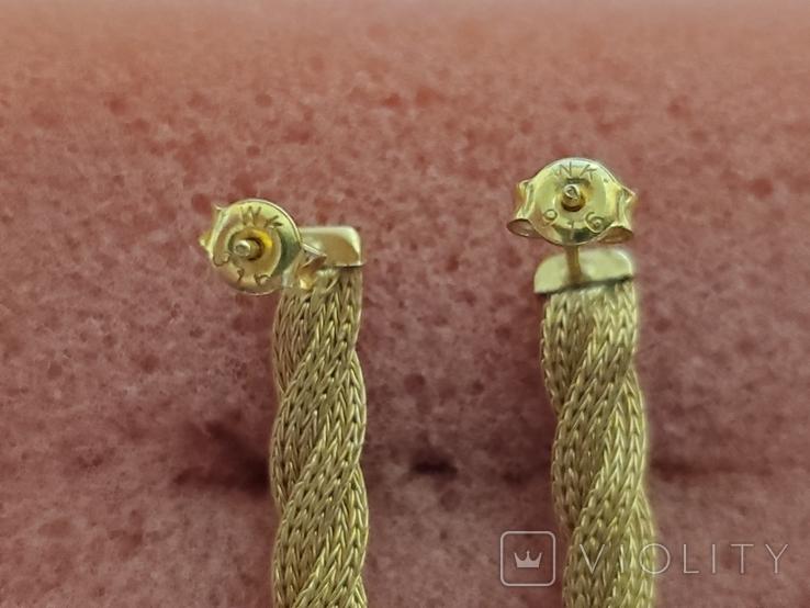 Цепочка и сережки,золото 916., фото №9