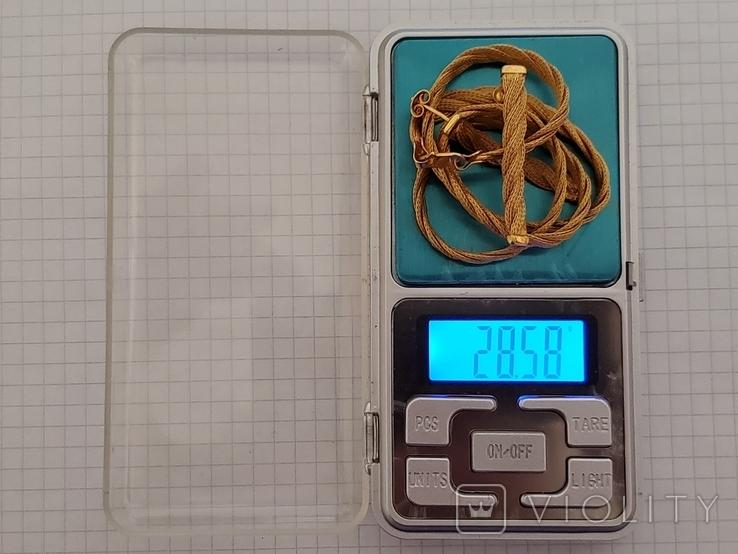 Цепочка и сережки,золото 916., фото №13