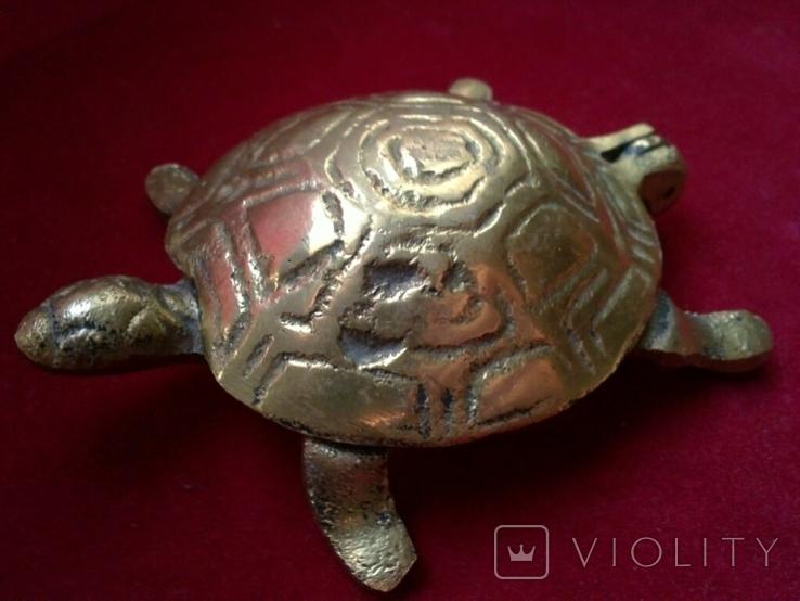 Пепельница - Черепаха. Латунь, фото №2