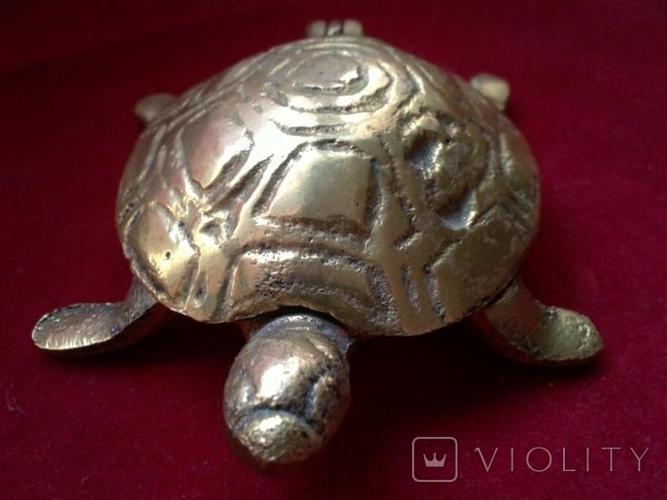 Пепельница - Черепаха. Латунь, фото №8