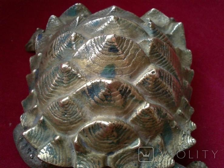Пепельница - черепаха. Бронза. Клеймо. Вес - 1 килограм, фото №6