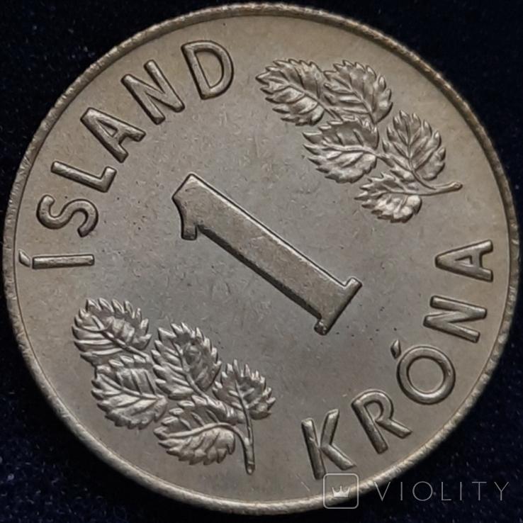 Ісландія 1 крона 1974 року, фото №4