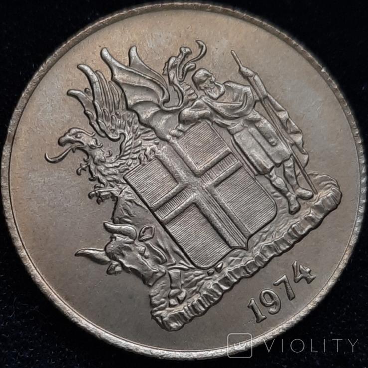 Ісландія 1 крона 1974 року, фото №7