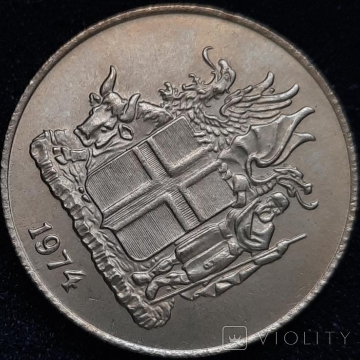 Ісландія 1 крона 1974 року, фото №8