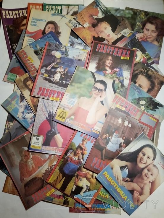 1984-1992 журнал РАБОТНИЦА лот 50 шт., фото №3