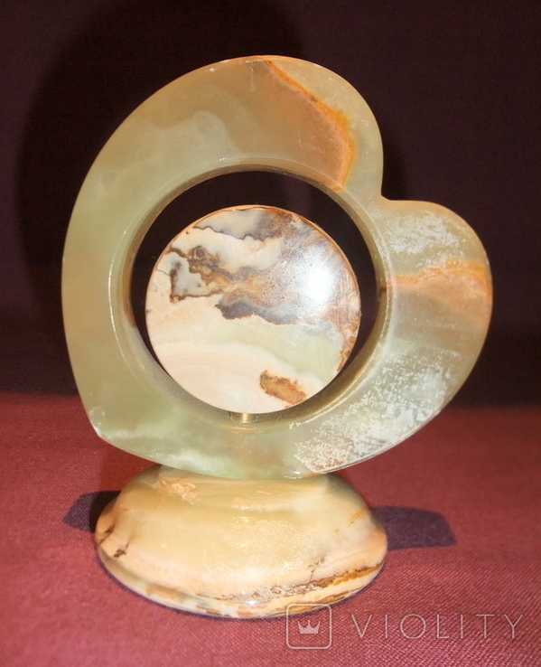 Часы кварцевые в корпусе из камня - оникс., фото №5