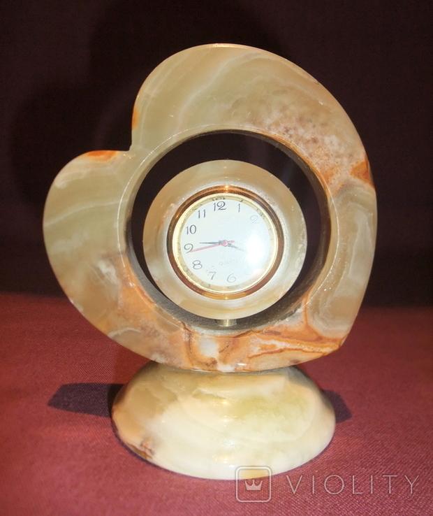 Часы кварцевые в корпусе из камня - оникс., фото №13