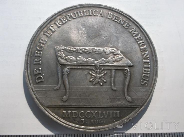 Медаль Добрых Заслуг. Польша 1738 год., фото №6