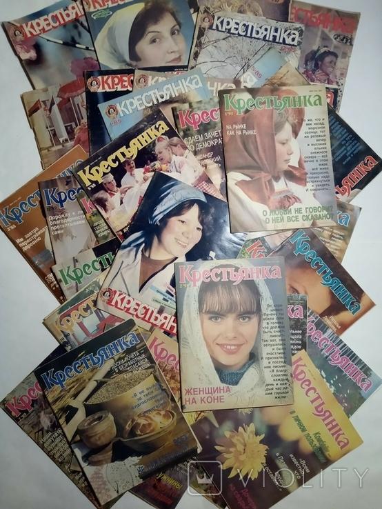1985-1992 журнал КРЕСТЬЯНКА лот 45 шт., фото №3