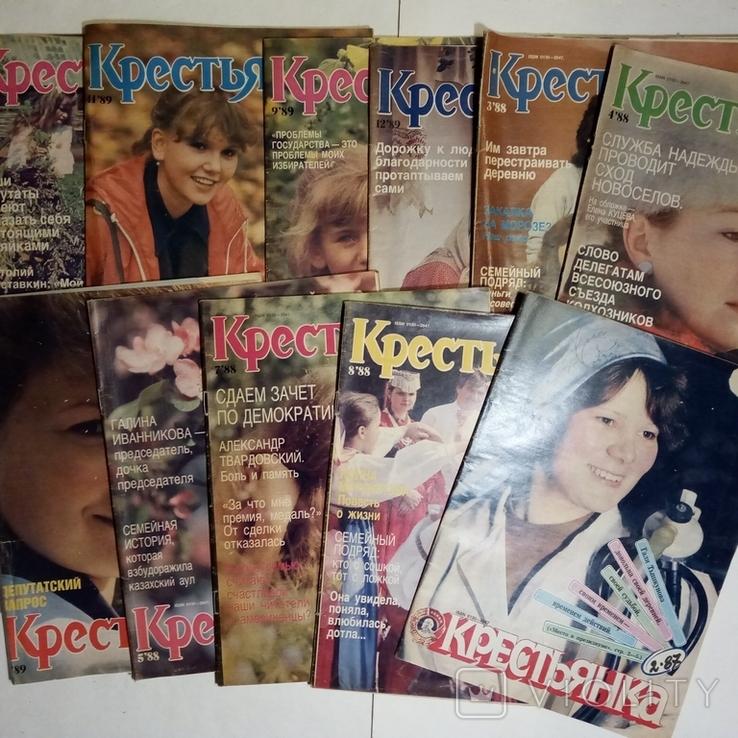 1985-1992 журнал КРЕСТЬЯНКА лот 45 шт., фото №6