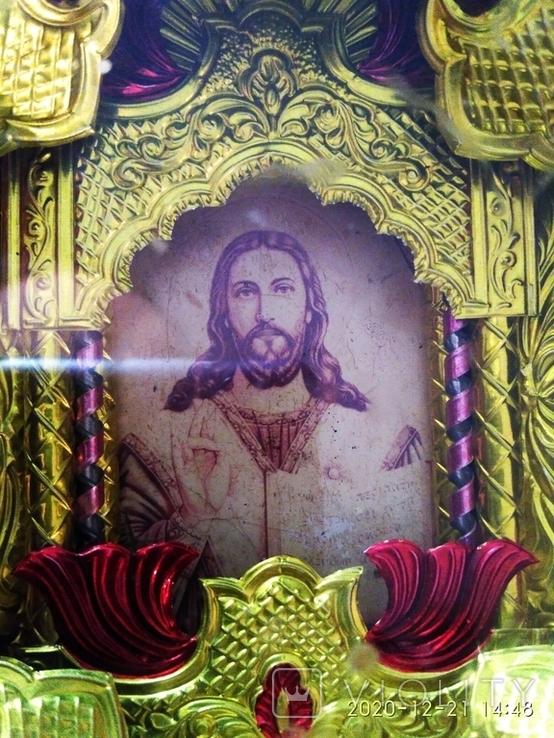 """2 Иконы в 1 лотеСв.хра.Николай"""",дерево,ручная работа,резьба и Св.Николая в рамке,освящены., фото №9"""