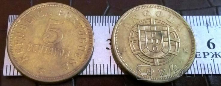5 центаво 1924 року . Ангола КОЛОНІЯ - копія.Лот -1       шт