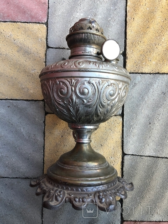 Старовинна лампа ,гарний стан, фото №2