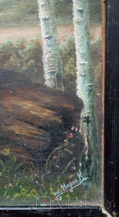 Картина старинная Кобзарь с бандурой худ.Мария К., фото №5