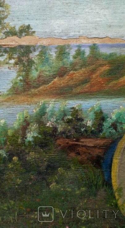 Картина старинная Кобзарь с бандурой худ.Мария К., фото №8